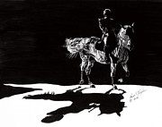 Dressage Horse Originals - In The Spotlight III by Lana Tyler