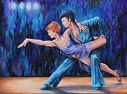 Ballroom Dance Paintings - In the Spotlight by Penny Birch-Williams