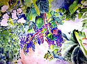 Winery Paintings - In the Vineyards by Sandy Ryan