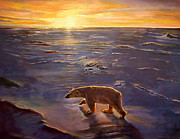 Polar Bears Paintings - In the Wilderness by Kevin Parrish
