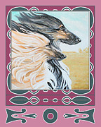 Afghan Hound Paintings - In The Wind by Lynne Watson