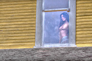 Naked Prints - In the Window Print by David  Naman