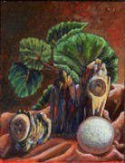 Golf Ball Painting Originals - In the Woods by Elizabeth Lane