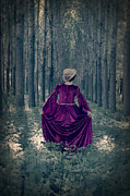 Period Dress Prints - In The Woods Print by Joana Kruse