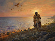 Shore Painting Metal Prints - In the World Not of the World Metal Print by Greg Olsen