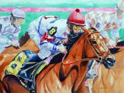 Jockey Painting Originals - In the Zone by Michael Prout