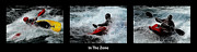 White Water Kayaking Posters - In The Zone With Caption Poster by Bob Christopher