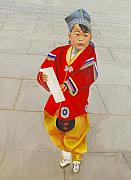 Keith Painting Originals - In Tian ananen square by Keith Bagg