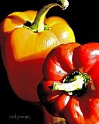Red Prints - In Time for Dinner  Print by Barb Pearson