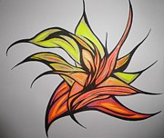 Abstract Drawings - In to the Flame by Tara Francoise