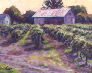 Blue Grapes Painting Posters - In Wine Country Poster by Michael Camp
