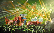 Stage Lights Paintings - In with the Um Crowd by Patricia Arroyo