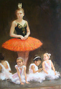 Ballet Dancers Painting Posters - In Wonderland Poster by Lisa Mistiuk