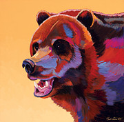 Abstracted Wildlife Art Posters - In Your Face Poster by Bob Coonts
