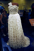 National Museum Of America History Framed Prints - Inaugural gown on display Framed Print by LeeAnn McLaneGoetz McLaneGoetzStudioLLCcom