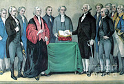 Swearing In Prints - Inauguration Of George Washington, 1789 Print by Photo Researchers