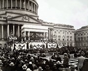 F.d. Roosevelt Prints - Inauguration Of President Franklin Print by Everett