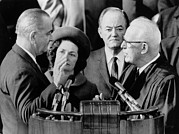 First Lady Art - Inauguration Of President Lyndon. Chief by Everett