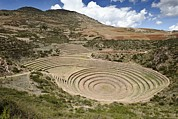Sacred Circle Prints - Inca Agricultural Terraces, Moray, Peru Print by Matthew Oldfield