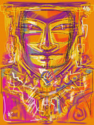 Necklace Mixed Media Posters - Inca King Poster by Russell Pierce
