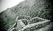 35mm Prints - Inca trail Ruins Print by Darcy Michaelchuk