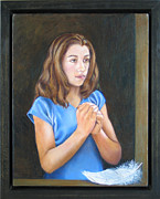 Virgin Mary Painting Originals - Incarnation by Claudia Kilby
