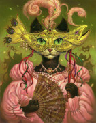 Fantasy Cats Paintings - Incatneato by Jeff Haynie