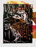 Lino Mixed Media Prints - Incense Box 3 Print by Adam Kissel