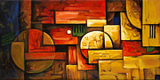 Photography Painting Originals - Inception of Abstract 5 by Uma Devi