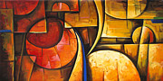 Contemporary Prints Painting Posters - Inception of Abstract 6 Poster by Uma Devi