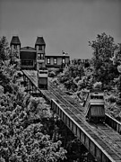Incline Photo Posters - Incline BW Poster by Arthur Herold Jr