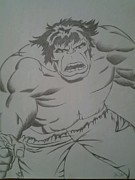 Hulk Drawings - Incredible Hulk by Jason Rodriguez