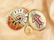 Charm Necklace Jewelry - Indalo lucky charm gifts by Melanie Bourne