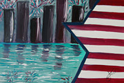 4th July Painting Originals - Independence  by Alexandra Torres