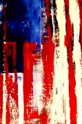 Us Flag Mixed Media Framed Prints - Independence Day Framed Print by Charles Jos Biviano