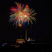 4th Of July Framed Prints - Independence Day in DC 2 Framed Print by David Hahn