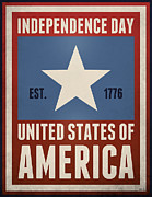 July 4th 1776 Posters - Independence Day Poster by Phil Perkins