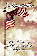 Memorial Day Digital Art - Independence Day USA by Phill Petrovic