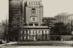 Philadelphia History Prints - Independence Hall Print by Bill Cannon