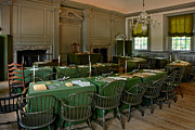 Birthplace Posters - Independence Hall in Philadelphia Poster by Olivier Le Queinec