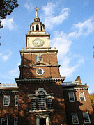 Independence Mixed Media - Independence Hall by Rick Thiemke