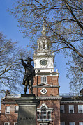 National Historic Landmark District Posters - Independence Hall Spring Poster by John Greim
