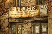 Kolkata Prints - India Electric Co. Print by Valerie Rosen