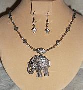 Animals Jewelry - India Elephant Necklace Set by Kim Souza