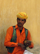 Turban Framed Prints - India The Street Performer Framed Print by Paul Ward