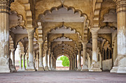 Y120907 Art - India, Uttar Pradesh, Agra, Agra Fort, Hall Of Public Audience by Bryan Mullennix