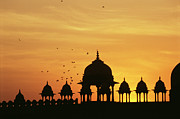 Uttar Pradesh Prints - India, Uttar Pradesh, Fatehpur Sikri At Sunset Print by Win Initiative
