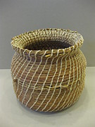 Indian Basket Sculptures - Indian Artifact by Beth Lane Williams
