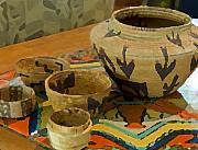 Baskets Digital Art - Indian Baskets 1 by Stephen Anderson