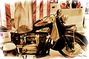 Beverly Hills Framed Prints - Indian Bike Framed Print by Chuck Staley